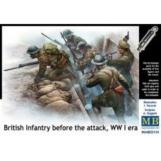 Master Box 1/35 Британские солдаты начинают атаку, Первая Мировая война (фигурки+окоп). № 35114