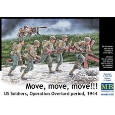 Master Box 1/35 Американские солдаты, операция Оверлорд, 1944 (Вперёд, вперед!). № 35130
