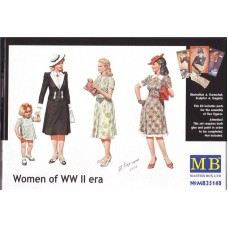 Master Box 1/35 Женщины периода Второй Мировой. № 35148
