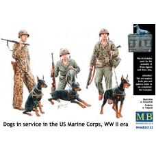 """Master Box 1/35 """"Собаки на службе армии"""" - подразделение американского корпуса времён Второй Мировой войны. № 35155"""