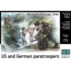 Master Box 1/35 Американские и немецкие десантники, Южная Европа, 1944 год. № 35157