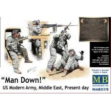 """Master Box 1/35 """"Man Down!"""" (""""Солдат ранен!"""") Современная армия США, Средний Восток, наше время. № 35170"""
