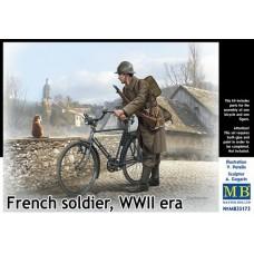 Master Box 1/35 Французский солдат-велосипедист, Вторая Мировая война. № 35173
