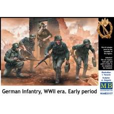 Master Box 1/35 Немецкая пехота Второй Мировой Войны (ранний период). № MRB_35177