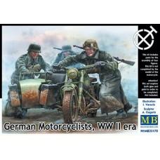 Master Box 1/35 Германские мотоциклисты, Вторая Мировая война. № 35178
