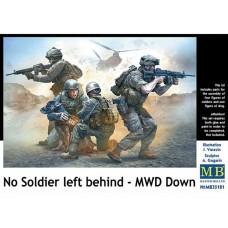 Master Box 1/35 Современные американские солдаты. Своих солдат не бросаем - боевая собака ранена (MWD down). № 35181