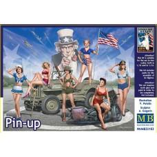 Master Box 1/35 Женская поддержка. Pin Up. № 35183