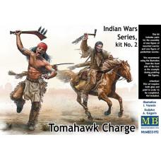 Master Box 1/35 Серия Индейские Войны, Набор №2 - Атака с Томагавками. № 35192