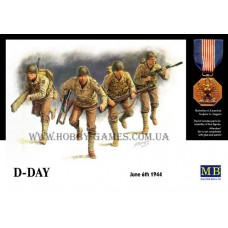 "Master Box 1/35 Американские пехотинцы. Операция ""D-Day"", 6 Июня 1944 г. № 3520"