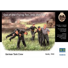 "Master Box 1/35 Немецкий танковый экипаж (Курск, 1943) ""Out of the frying pan, into the fire"". № 3536"