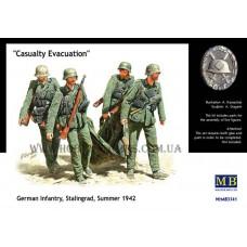 Master Box 1/35 Немецкая пехота, эвакуация раненого, Сталинград, лето 1942. № 3541