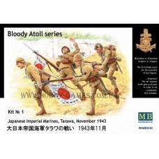 """Master Box 1/35 Японская морская пехота, Тарава, ноябрь 1943 г. (Серия: """"Кровавый атолл"""", набор №1). № 3542"""