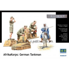 Master Box 1/35 Немецкий танковый экипаж, Северная Африка (Afrikakorps). № 3559