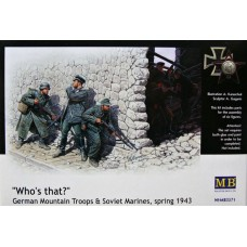 """Master Box 1/35 """"Кто там?"""" - Германские горные стрелки и советские десантники (весна 1943). № 3571"""