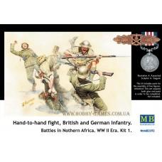 Master Box 1/35 Рукопашный бой британских и немецких содлат. (Северная Африка. Набор №1). № 3592