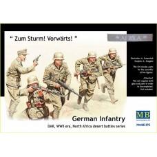 Master Box 1/35 Немецкая пехота, Северная Африка, Вторая Мировая война. № 3593