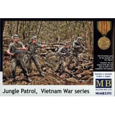 Master Box 1/35 Патруль в джунглях, серия Война во Вьетнаме. № 3595