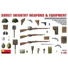 MiniArt 1/35 Советское вооружение и экипировка для пехоты. № 35102