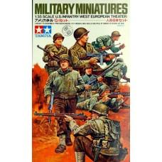 Tamiya 1/35 Американская пехота, Вторая Мировая Война (8 фигур). № 35048