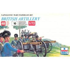 Esci 1/72 Набор солдат: Британская артиллерия, Waterloo 1815, Napoleonic Wars. № 233