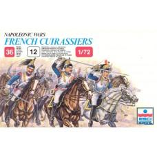 Esci 1/72 Набор солдат: Французская кавалерия Cuirassiers, Waterloo 1815, Napoleonic Wars. № 235