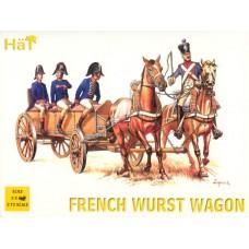 HaT 1/72 Набор солдат: Французский Wurst Wagon, Napoleonic Wars. № 8102