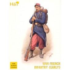 HaT 1/72 Набор солдат: Французская ранняя пехота Первой мировой войны (WW I). № 8148