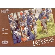 HaT 1/72 Набор солдат: Голландская Пехота, Ватерлоо, Napoleonic Wars. № 8025