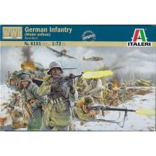 Italeri 1/72 Набор солдат: Немецкая Пехота (зимняя униформа), WWII. № 6151