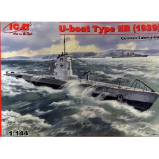 ICM 1/144 Немецкая подводная лодка Type IIB (U-Boat) 1939 года. № ICM_S.009