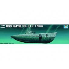 """Trumpeter 1/144 Американская подводная лодка тип """"Gato"""" SS-212, 1944 год. № 05906"""