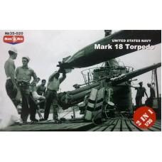 MikroMir 1/35 Американские торпеды Mark 18 (2 торпеды в комплекте). № 35-020