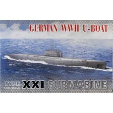 AFV Club 1/350 Немецкая подводная лодка Type ХХІ (U-Boat). № SE73501