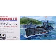 AFV Club 1/350 Японская подводная лодка I-58 late w/Kaiten. № AFV_SE73508