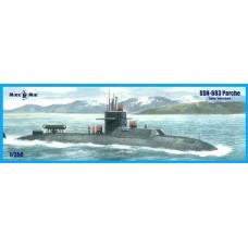 MikroMir 1/350 Американская атомная подводная лодка SSN-683 Parche (late version). № 350-039