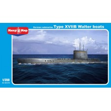 MikroMir 1/350 Немецкая подводная лодка Type XVIIB, WWII. № 350-018