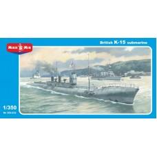 MikroMir 1/350 Британская эскадренная подводная лодка тип «K» HMS K15. № 350-032