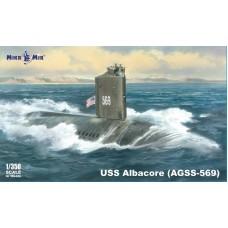 MikroMir 1/350 Американская экспериментальная подводная лодка USS Albacore (AGSS-569). № 350-036