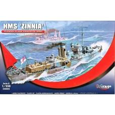 Mirage Hobby 1/350 Британский корабль HMS «Zinnia» Flower Class Corvette (K98). № MIH_350802