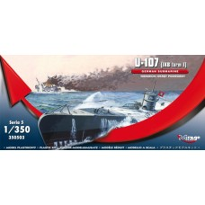 Mirage Hobby 1/350 Большая океанская немецкая подводная лодка U-107, тип IX-B. № 350503