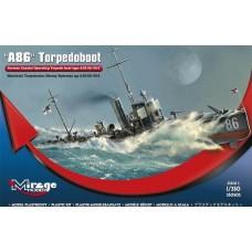 Mirage Hobby 1:350 Немецкий торпедный катер береговой обороны A86 Torpedoboat Type A/III/56 Class, 1916. № 350505