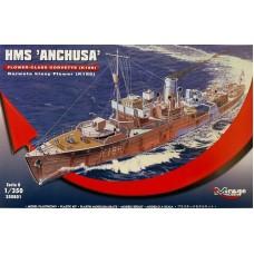 Mirage Hobby 1:350 Британский корабль HMS «Anchusa» Flower Class Corvette (K186). № 350801