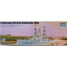 Trumpeter 1/350 Немецкий эскадренный броненосец SMS Schleswig-Holstein, 1908. № 05355