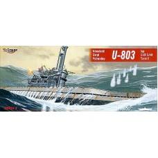 Mirage Hobby 1/400 Немецкая подводная лодка U-803 Type U-IXC/40 Turm II. № 40044