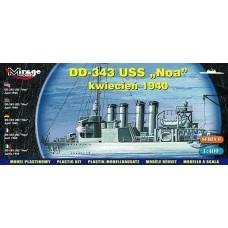 "Mirage Hobby 1/400 Эсминец USS DD-343 ""Noa"" (Апрель 1940). № 40604"