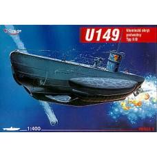 Mirage Hobby 1/400 Немецкая подводная лодка U-149 Type IID. № MIH_40026