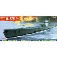 Mirage Hobby 1:400 Немецкая подводная лодка U-176 Type U-IX C Turm II. № 40041