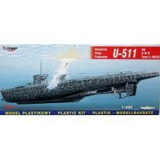 Mirage Hobby 1/400 Немецкая подводная лодка U-511 Type U-IXB Turm I + WG 42. № 40042