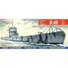 Mirage Hobby 1/400 Немецкая подводная лодка U-40 Type U-IXA Turm I. № 40045