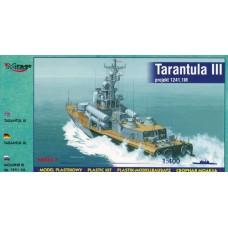 "Mirage Hobby 1/400 Советский ракетный катер проекта 1241.1М ""Молния"" (Tarantul III class corvettes). № 40230"